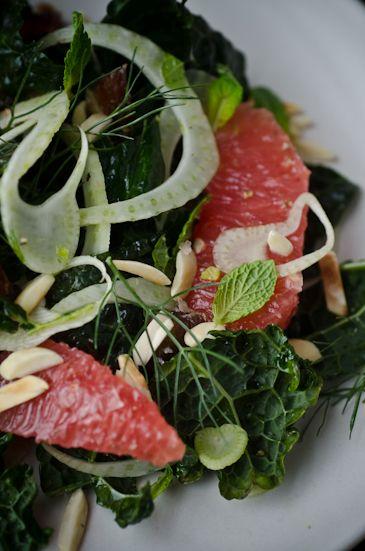 Kale, grapefruit and fennelsalad