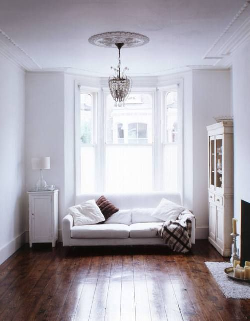 #interior design, serene, white. chandelier.