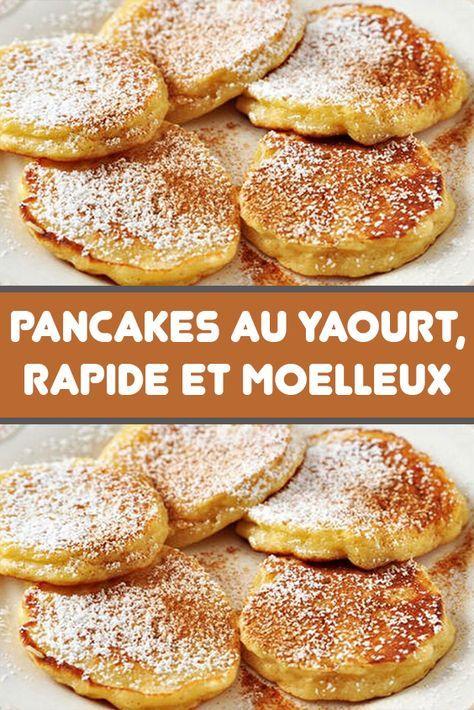 Le bonheur du petit-déjeuner ou du brunch du week-end : les pancakes ! En voici la recette très très moelleuse. Le pancake au yaourt est léger, épais et surtout délicieux. Et est aussi facile que rapide à faire.