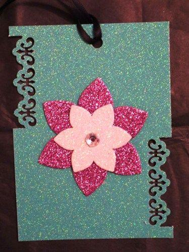 Handmade Gift Tags- Glitter