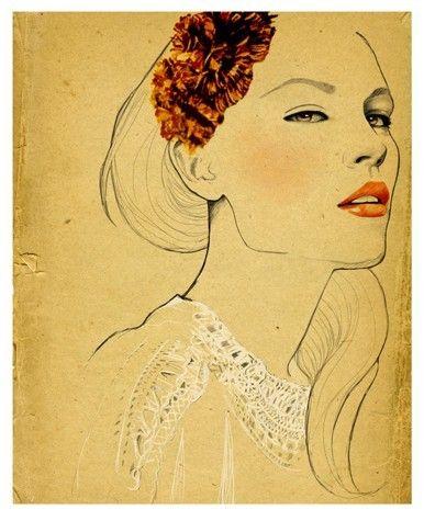 """Olivia"" limited edition print by Sandra Suy  #fashion #illustration #sandra_suy"
