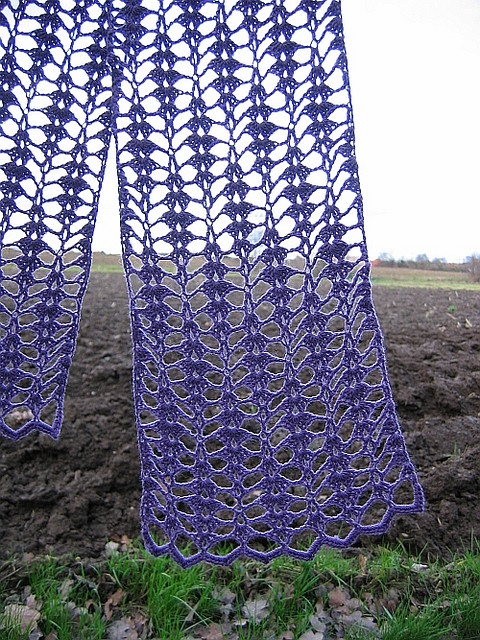 Violet Points Crochet Scarf