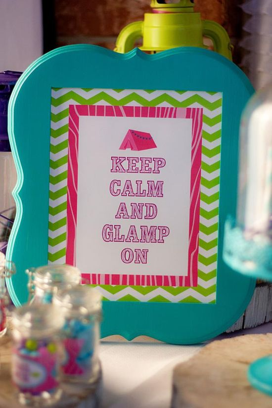 Glamping Party via Kara's Party Ideas Kara'sPartyIdeas.com #Camping #Sleepover #Party #Ideas #Supplies #glamping