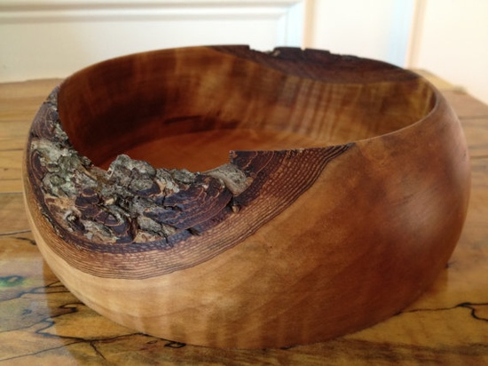 Wooden Bowl  Handmade  Bread Bowl by tunguskaevent3 on Etsy, $39.95