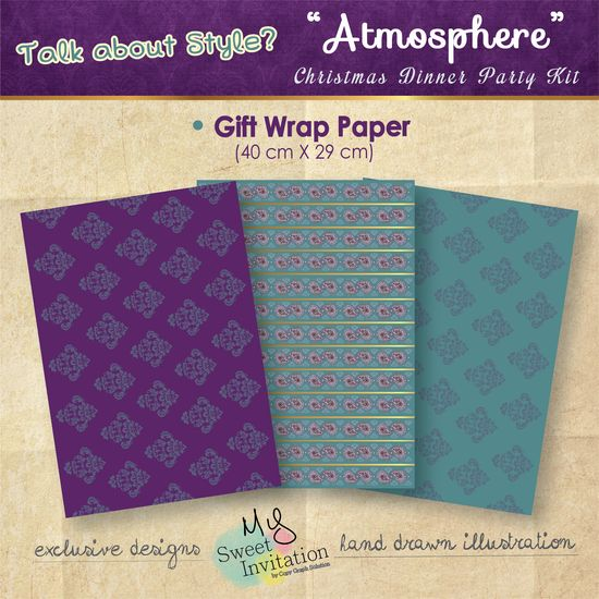 """Atmosphere"" #Christmas #Dinner Party Kit Gift Wrapper"