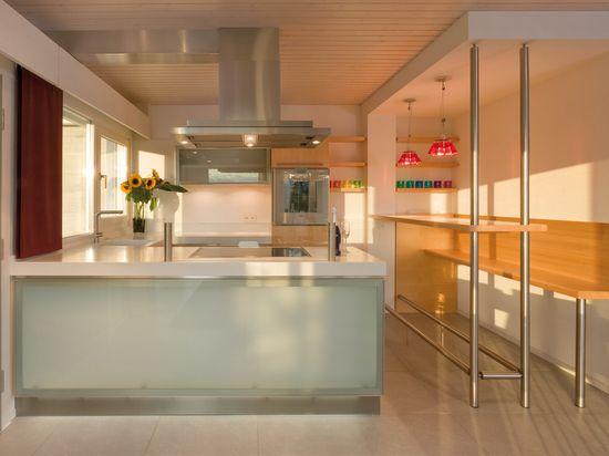 Kitchen Interior  white and wood- HUF HAUS