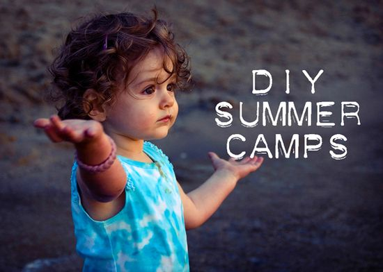 DIY camp themes for keeping the children creatively happy this summer! Links of