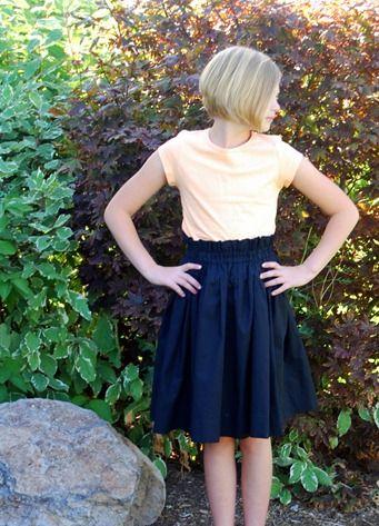 high waistband skirt tutorial