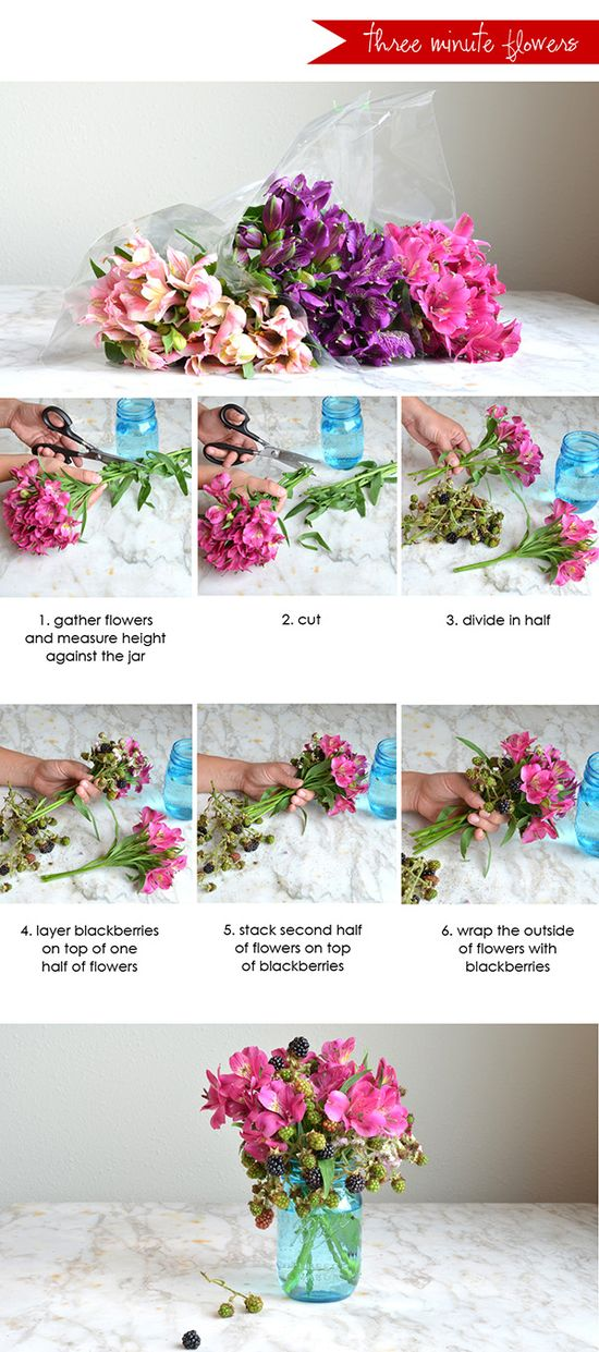 Love fresh flowers? Learn how to make a beautiful arrangement in just three minutes See the full post on Style Spotters: www.bhg.com/...