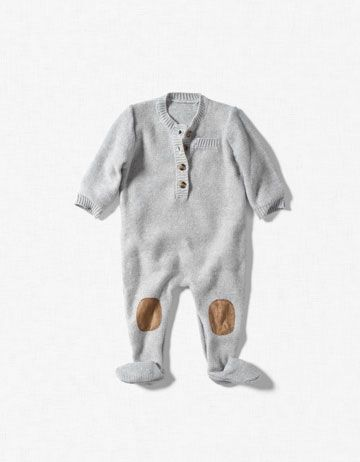 Zara kids romper with knee patches.