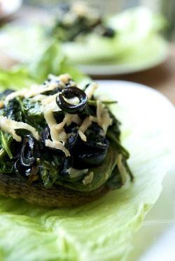 Warm Spinach Stuffed Mushrooms