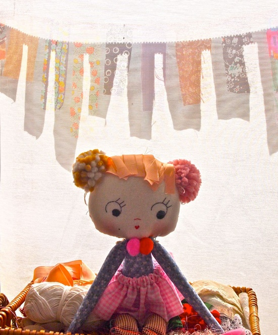 Cloth rag doll, yoyo baby by Jess Quinn