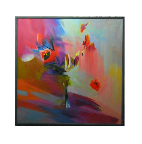 Tulips flowers giclee art print from original oil by PysarArt, $45.00