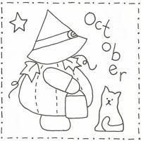 Sunbonnet Sue BOM - October Stitchery Pattern LQC-S10