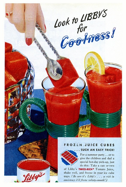 Look to Libby's for coolness! #vintage #1940s #food #juice #ads