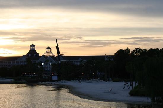 Disney's Beach Club Resort at sunset