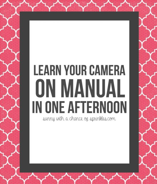 Shooting in Manual for Beginners-- Learn your camera on manual in one
