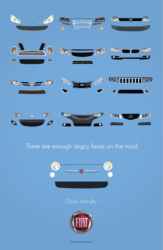 There are enough angry faces on the road. Fiat- Drive Friendly