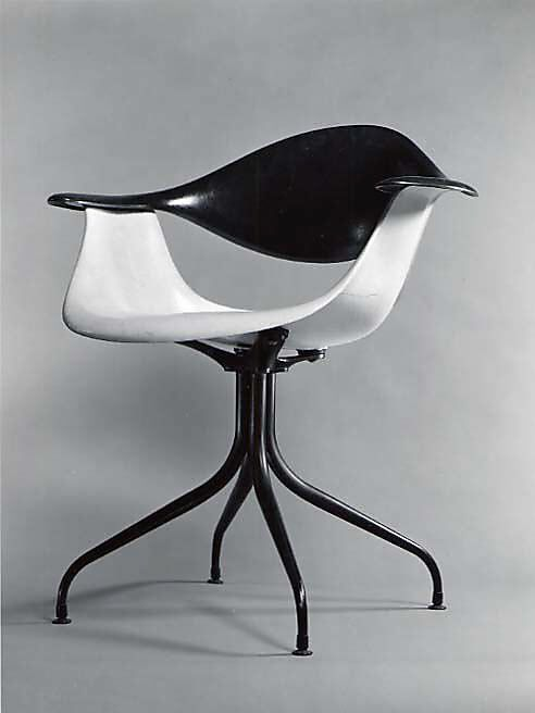 """Swaged-Leg"" Armchair  Charles Pollock, 1958. Fiberglass-reinforced polyester, steel."