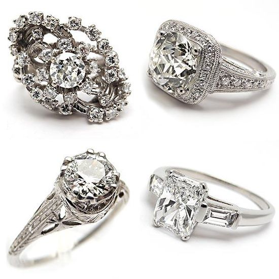 Vintage engagement rings.