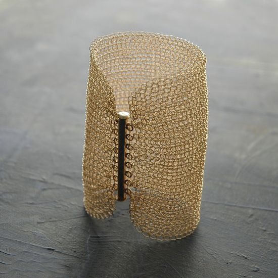 Knitted Wire Bracelet - What do you say to?