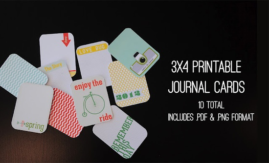 Free Project Life 3x4 Cards- Download