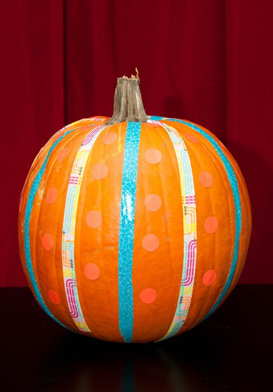 Huckleberry Love: Kids Halloween Activities {Guest Post from Education.com}- Washi tape pumpkin