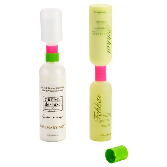 Lotion Saver Bottle Couplers: Get the last drop out of your bottles.