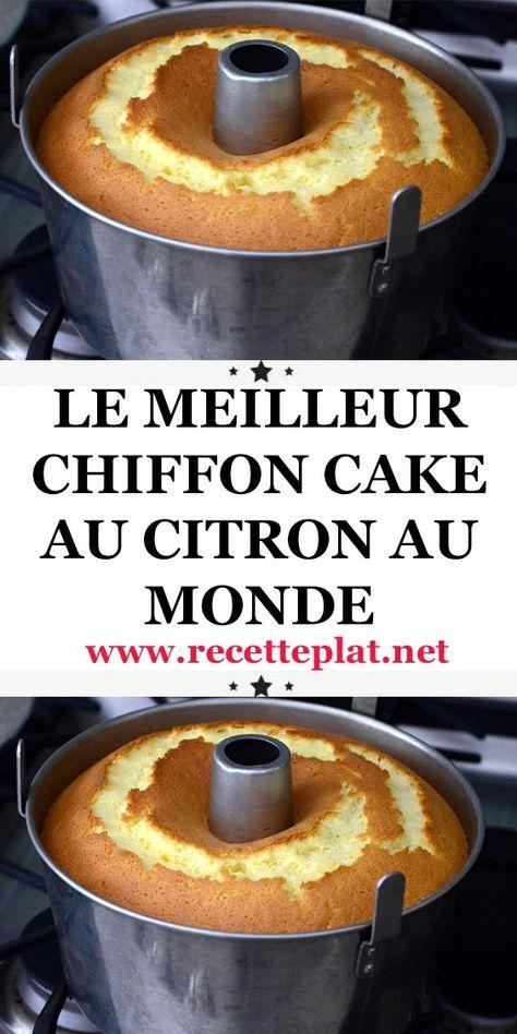 Conquise par la recette du chiffon cake à l'orange, je l'ai refait en version citron. La texture de ce gâteau est incroyablement moelleuse et légère. J'adore !!!