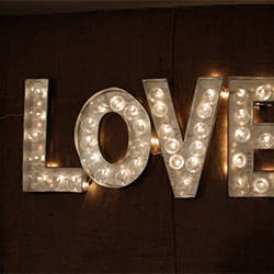 DIY Marquee Letters