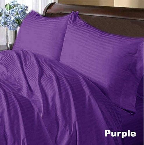 300 TC Deluxe Ultra 100% Egyptian cotton Comfort Duvet cover 300 THREADS Queen Purple Stripe by pearlbedding. $99.99. THREAD COUNT/MATERIAL: 300TC , 100% Egyptian Cotton. Extra Comfortable and most Contemporary Bedding set.. Brand New and Factory Sealed.. This is one Duvet cover only.. Experience true luxury when you sleep on these Eqyptian cotton sheets.. You are buying the world's finest Bedding made with supreme quality of 100% Egyptian Cotton. These sheets available in Both ...