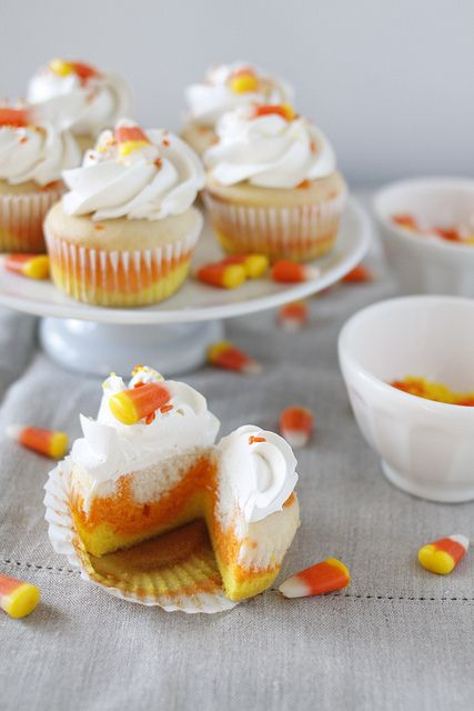 Candy Corn Cupcakes :)