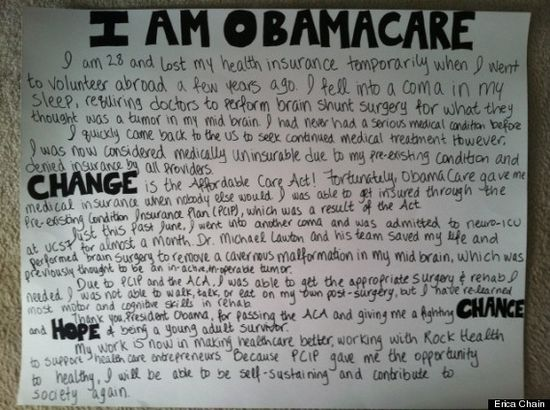 """""""I am the Affordable Health Care Act."""""""