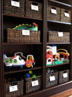 Toddler Approved!: Kid-Approved Toy Storage - love that they are in baskets (& the color of everything)