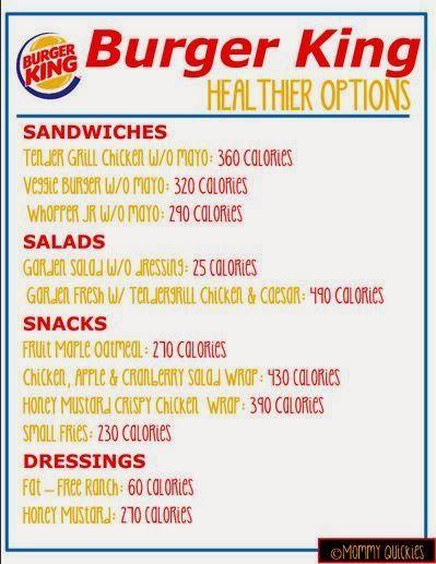 Burger King Healthy Eating
