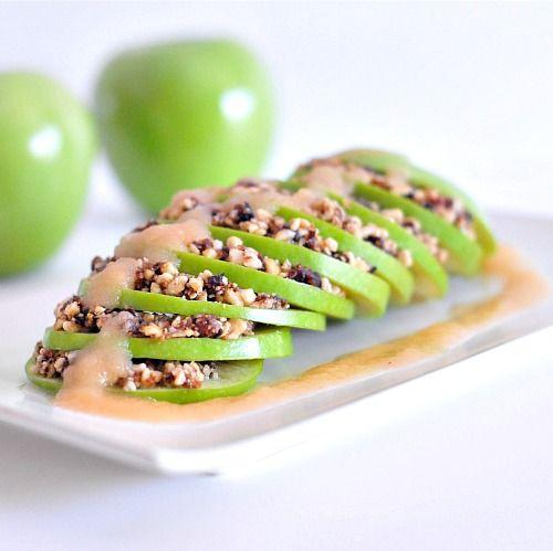 raw apple crisp recipe #vegan #rawfoods