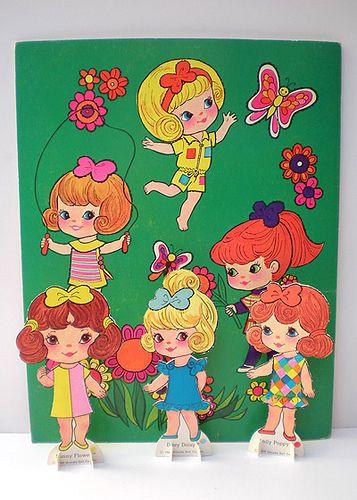 Petal People Paper Dolls