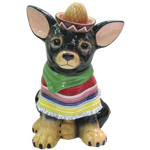 Westland Giftware Aye Chihuahua Raul Cookie Jar, 12-Inch by Westland Giftware. $44.99. High quality. Fun and cute styling. Whimsical. Functional. Material: ceramic. Westland Giftware Aye Chihuahua, Raul Cookie Jar, 12-inch. This adorable jar features a Chihuahua dressed up to celebrate.