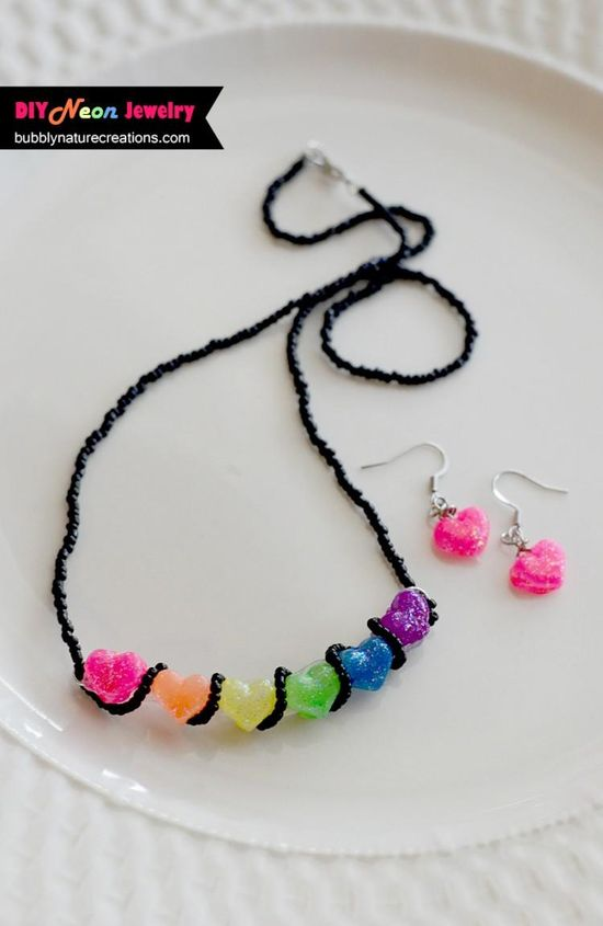 DIY Neon Jewelry with Mod Melts