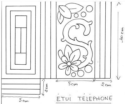 Etui téléphone portable en boutis, Tuto pour faire - Loisirs créatifs