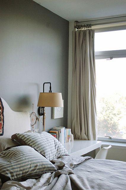 Jennifer Sarkilahti / Odette / Design*Sponge {gray, white and beige eclectic vintage modern bedroom} by recent settlers, via Flickr