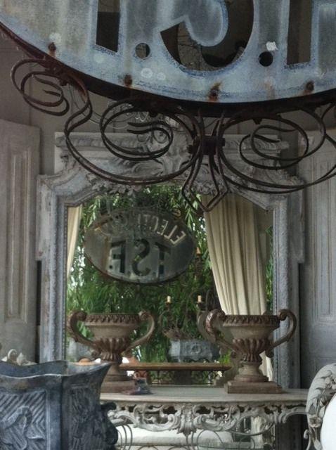 Urns & wrought iron