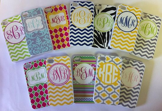 monogrammed phone cases
