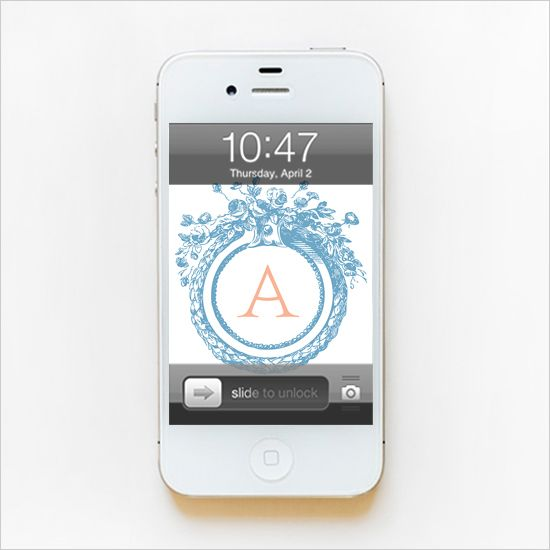 Free monogram background for your iPhone. You can change the colors too!