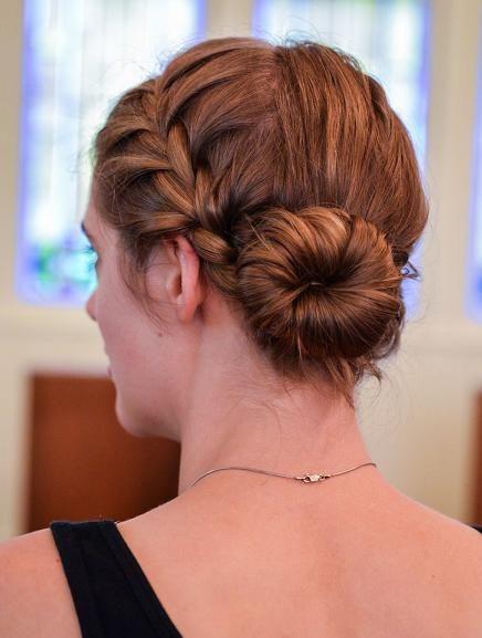 French braid to bun