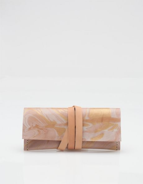 marbled leather wrap case