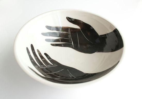 Grasp Porcelain Bowl by flatearthstudio