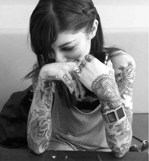 tattooed girl from tumblr