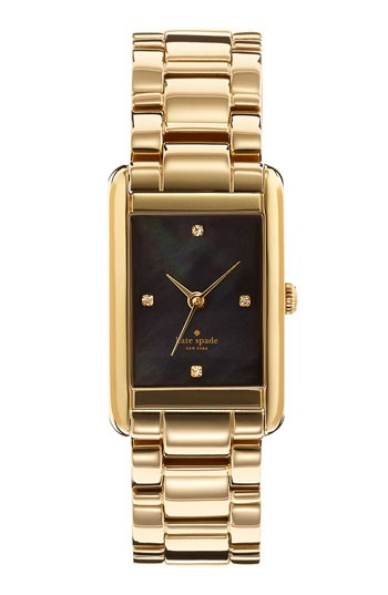 kate spade new york 'waldorf' crystal marker bracelet watch