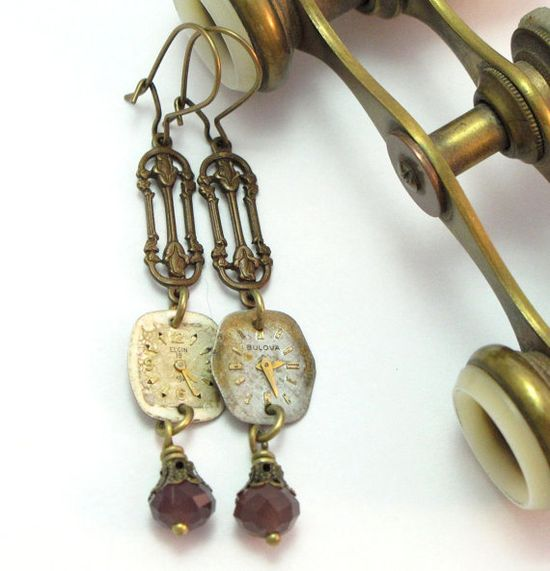 Enchanting earrings by Mystic Pieces #steampunk #jewelry #mysticpieces